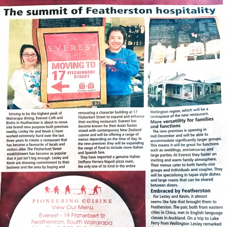 The summit of Featherston hospitality